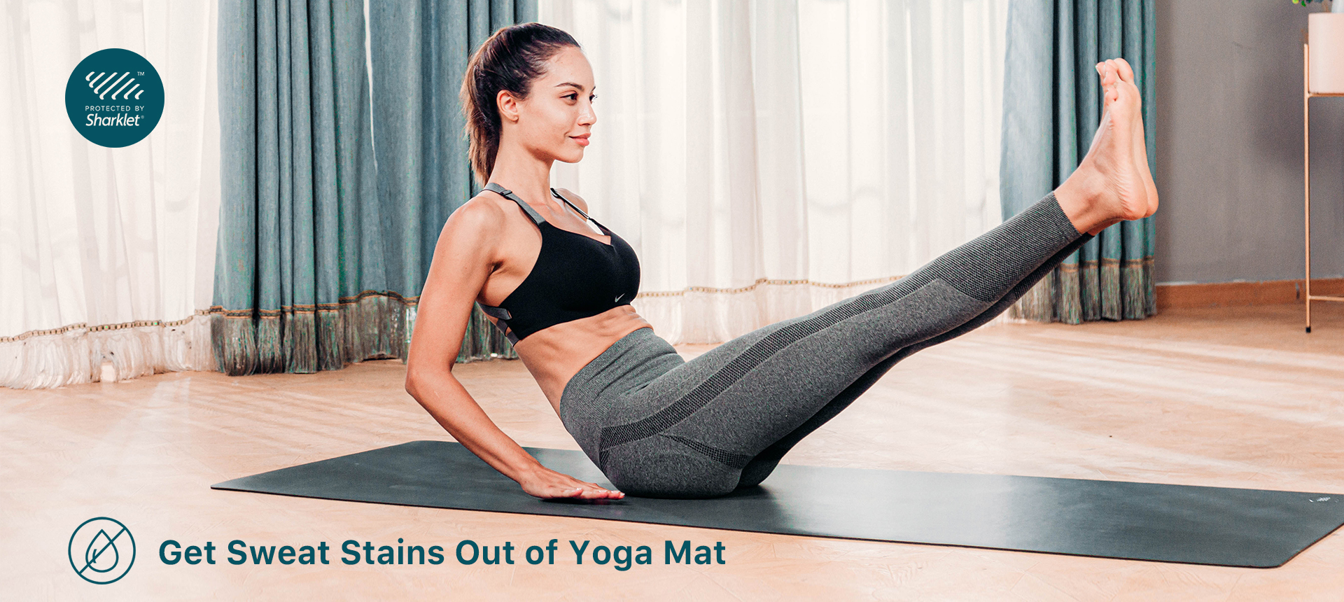 Get Sweat Stains Out of Yoga Mat