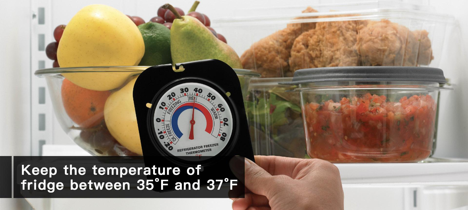 lower the temperature of fridge