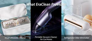 EraClean Ultrasonic Cleaner Vacuum Cleaner Odor Eliminator