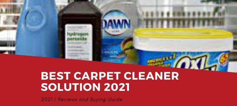 Best Carpet Cleaner Solution 2021 Reviews